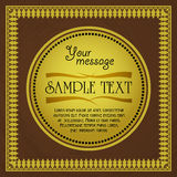 Vintage card design for greeting card, invitation, menu, vector pattern royalty free illustration