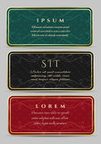 Vintage Card Design Set Royalty Free Stock Image
