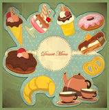 Vintage card  dessert Royalty Free Stock Photos
