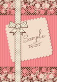 Vintage card with dotted tape and note Royalty Free Stock Images