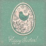 Vintage card with Easter egg Royalty Free Stock Images