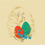 Vintage card Easter joy Royalty Free Stock Photography