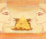 Vintage card with Egyptian queen Royalty Free Stock Photography