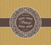 Vintage card with a floral frame Royalty Free Stock Photo