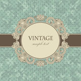 Vintage card with a floral frame Stock Image