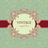 Vintage card with floral frame Royalty Free Stock Image
