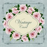 Vintage card with flowers Royalty Free Stock Photography