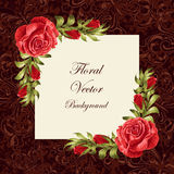 Vintage card with flowers Stock Photography