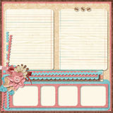 Retro family album.365 Project. Scrapbooking templates. Royalty Free Stock Photography