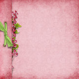 Elegant background with bow and flowers Stock Photos