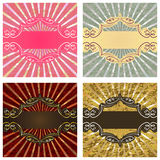 Vintage card with frame Stock Photography