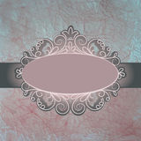 Vintage card with frame. EPS 8. Vector file included Royalty Free Stock Images