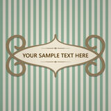 Vintage card with frame and text Stock Photo