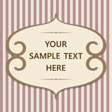 Vintage card with frame and text Royalty Free Stock Images