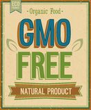 Vintage card - GMO free. Royalty Free Stock Image