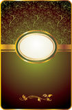 Vintage card with gold emblem Royalty Free Stock Images