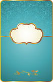 Vintage card with gold emblem Stock Photography