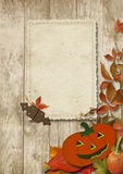 Vintage card with Halloween pumpkin Royalty Free Stock Photo