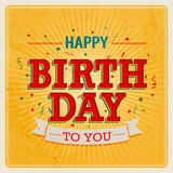 Vintage card - Happy birthday. Vector illustration Royalty Free Stock Photography