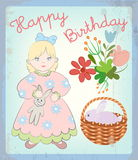 Vintage card Happy Birthday Royalty Free Stock Image
