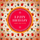 Vintage card. Happy birthday. Vector illustration Royalty Free Stock Photos