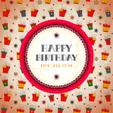 Vintage card. Happy birthday. Vector illustration Stock Image