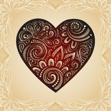 Vintage Card with Heart. Royalty Free Stock Images