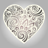 Vintage Card with Heart. Stock Image
