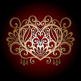Vintage Card with Heart. Royalty Free Stock Image