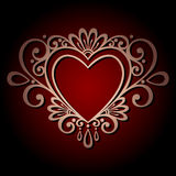 Vintage Card with Heart. Royalty Free Stock Photography