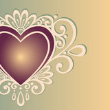 Vintage Card with Heart. Stock Photo