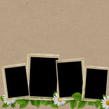 Vintage card for the holiday with flower Royalty Free Stock Images