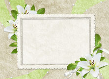 Vintage card for the holiday  with flowers Stock Images