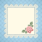 Vintage card with lace doily Stock Image