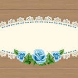 Vintage card with lace doily Royalty Free Stock Photo