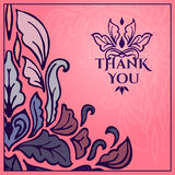 Vintage card with lettering Thank you. Vector illustration Royalty Free Stock Image