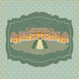 Vintage card with old castle vector Stock Images