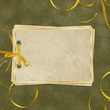 Vintage card from old paper. On the abstract background Stock Photo