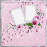 Vintage card with orchid Royalty Free Stock Photography