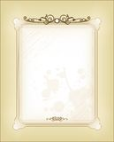 Vintage card ornamental background and frame Royalty Free Stock Photo