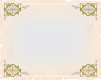 Vintage card ornamental background and frame Royalty Free Stock Images