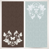 Elegant cards with floral pattern Royalty Free Stock Image