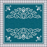 Vintage card with a pattern Royalty Free Stock Photo