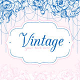 Vintage card with Peonies royalty free illustration