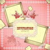 Vintage card with place for text - scrapbook style Royalty Free Stock Photography