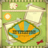 Vintage card with place for text - scrapbook style Royalty Free Stock Photo