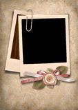 Vintage card with polaroid frame Royalty Free Stock Images