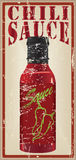Vintage card for the recipe chili sauce Royalty Free Stock Images