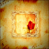 Vintage card romantic music Royalty Free Stock Photos