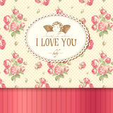 Vintage card with roses Royalty Free Stock Image